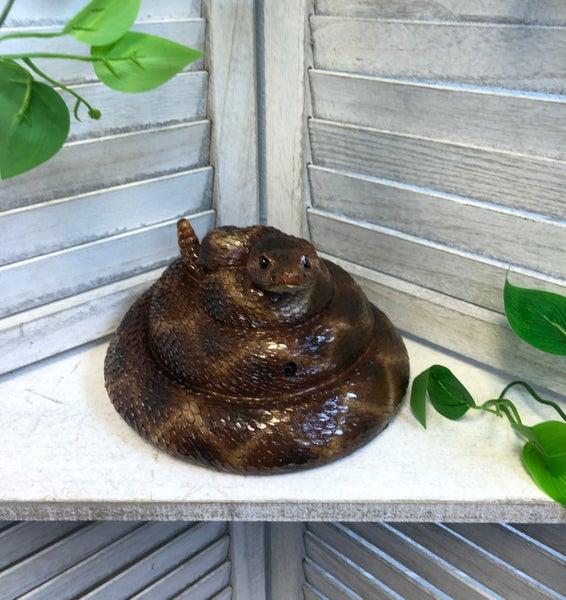 Reptile Collection Rattler Garden Statue