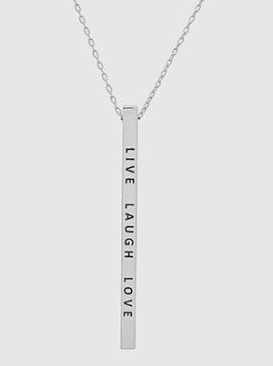 Engraved Metal Bar Delicate Necklaces