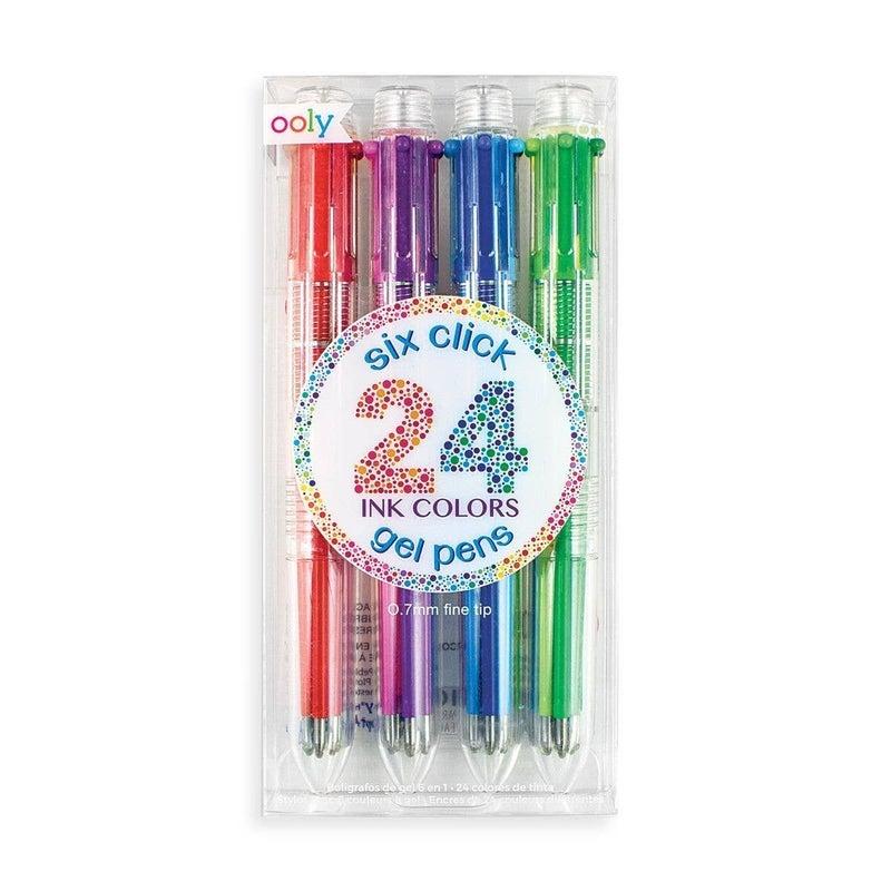 6 Click Gel Pens