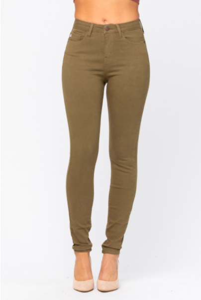 Judy Blue High Waisted Colored Skinny Jeans