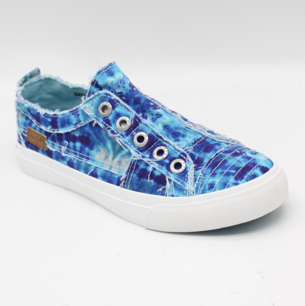 Blowfish Play Teal Tie Dye Low Top Sneaker
