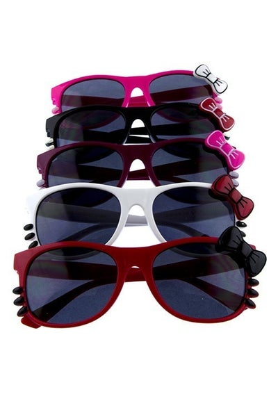 Kids Kitty and Bow Sunglasses