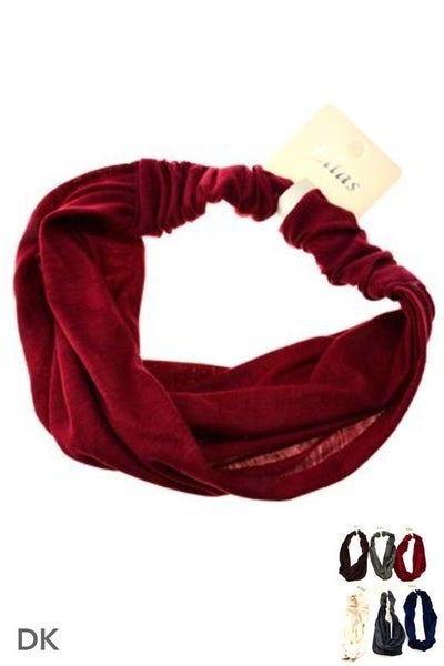 Solid Cotton Wrap Headbands