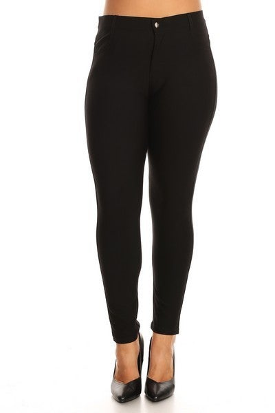 High Rise Knit Skinny Pointe Pants