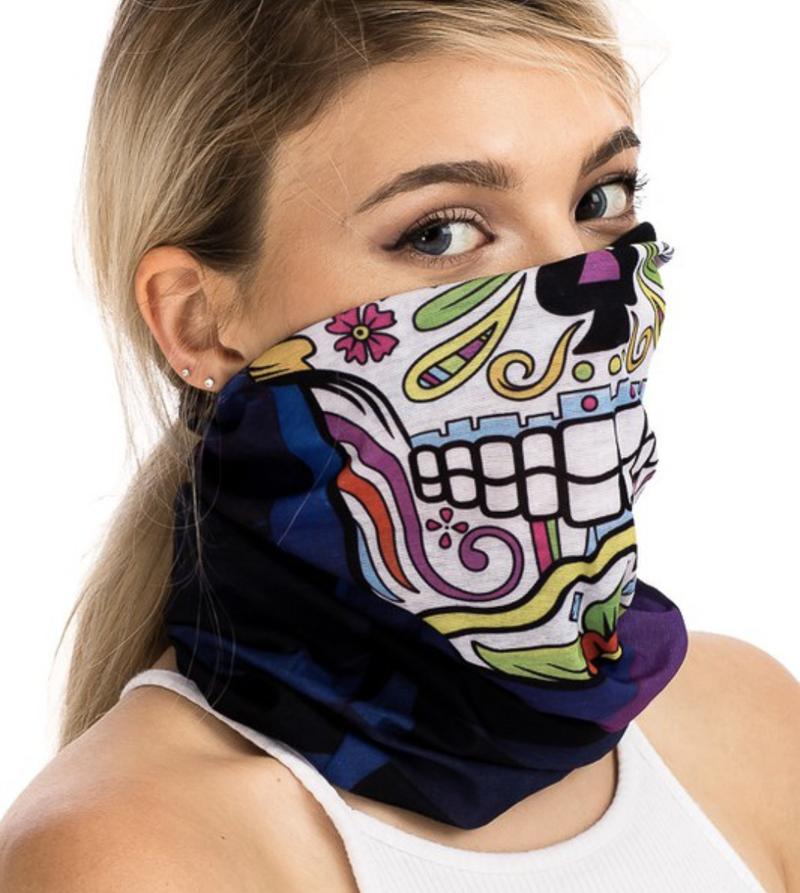 Sugar Skull Neck Gaiter/Helmet Liner
