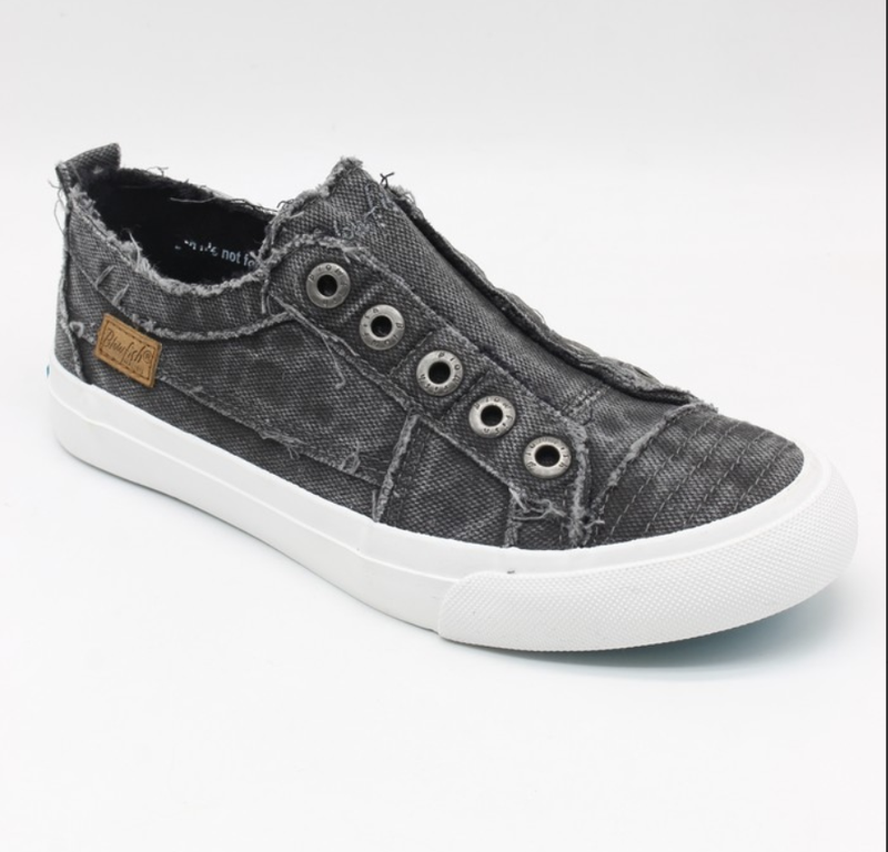 Blowfish Play Black Smoked Low Top Canvas Sneakers