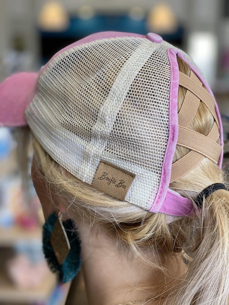 CrissCross Ponytail Baseball Caps