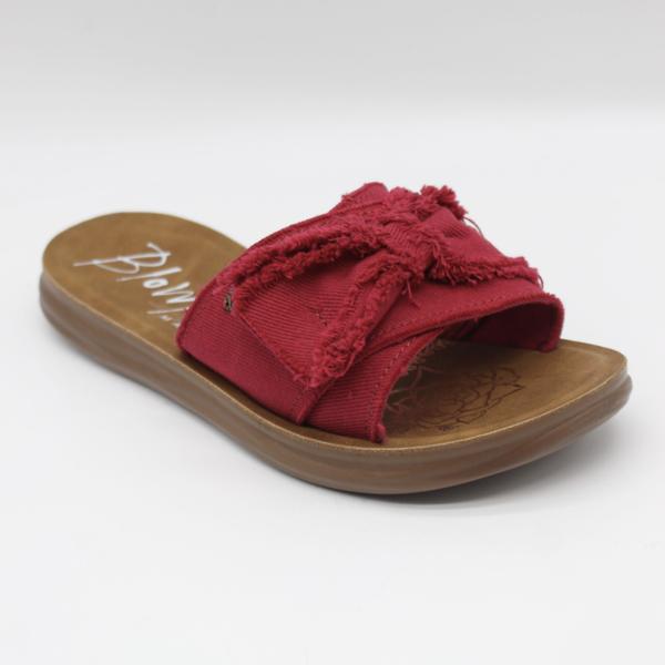 Blowfish Saturn Red Twill Sandals