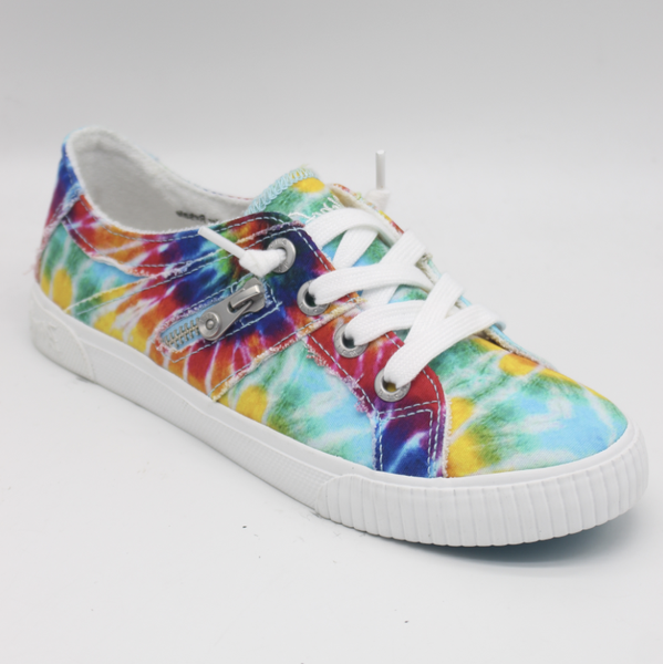 Blowfish Fruit Low Top Rainbow Tie Dye Lace Sneakers