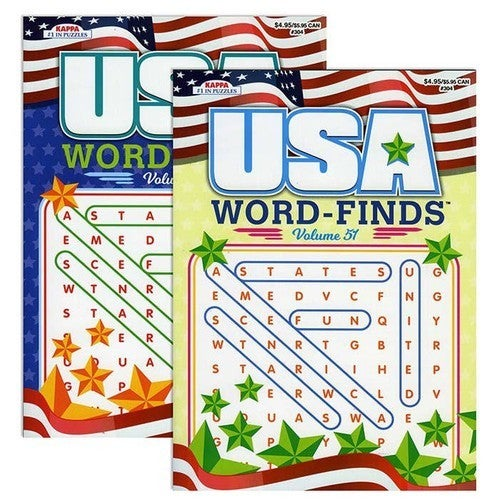 USA Word Finds Puzzle Book