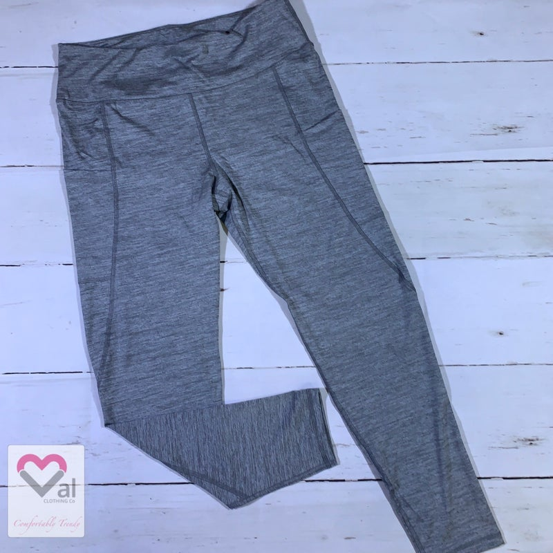 Solid Heathered Full Length Pocket Leggings
