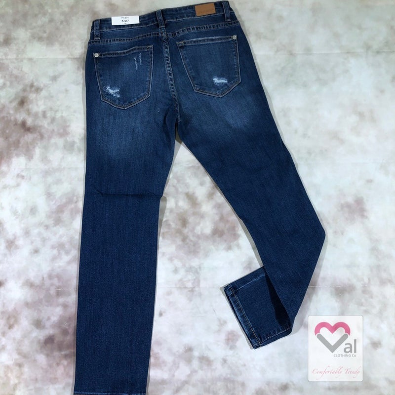 Judy Blue Faux Patch Jean Capris