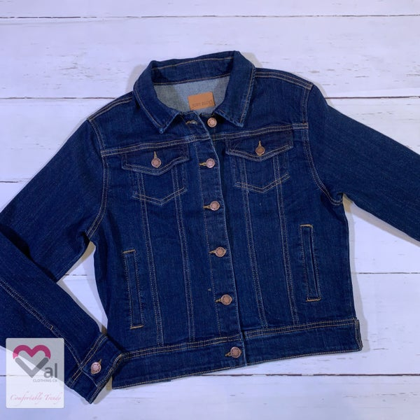 Judy Blue Dark Wash Classic Jean Jacket
