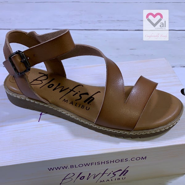 Blowfish Brown Strappy Sandal with Buckle Detail