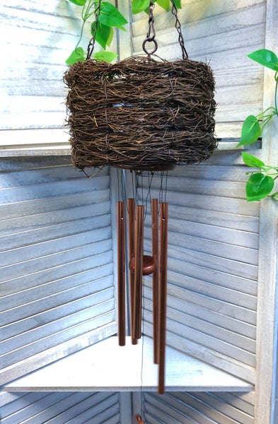 40in Copper Basket Wind Chime