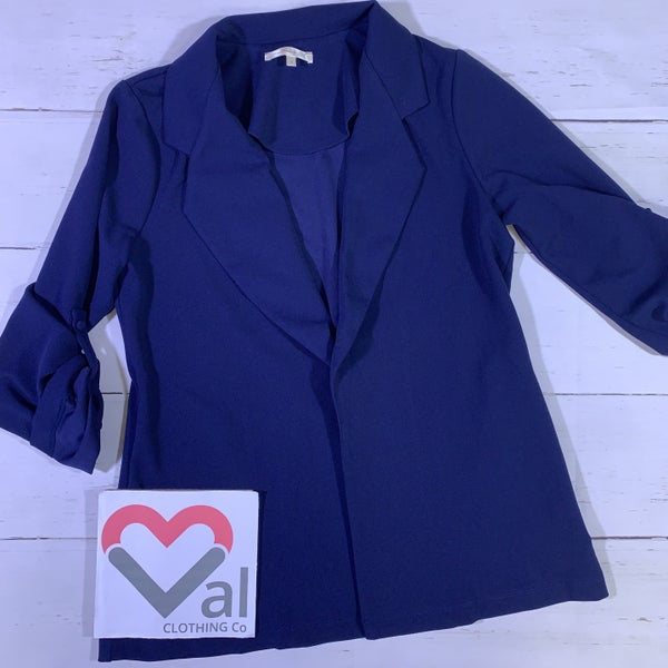 3/4 Sleeve Solid Blazer