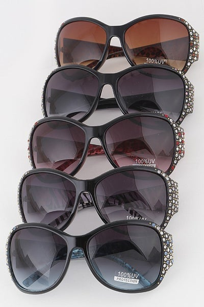 Rounded Butterfly Fashion Sunglasses