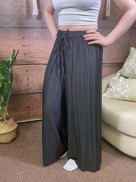 Full Length Solid Wide Leg Pants