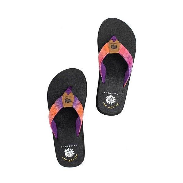 Yellow Box Purple Multi Nadeli Fashion Sandals
