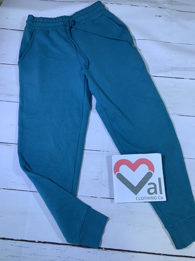 Solid Jogger Sweatpants with Elastic Waist and Drawstring