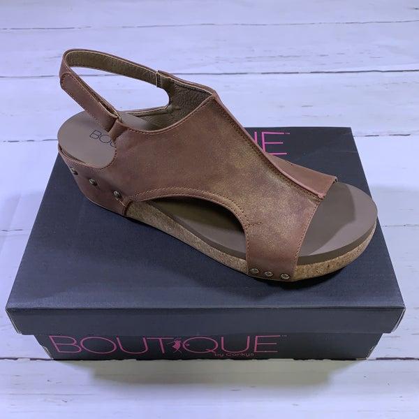 Corkys Volta Platform Sandal in Brown