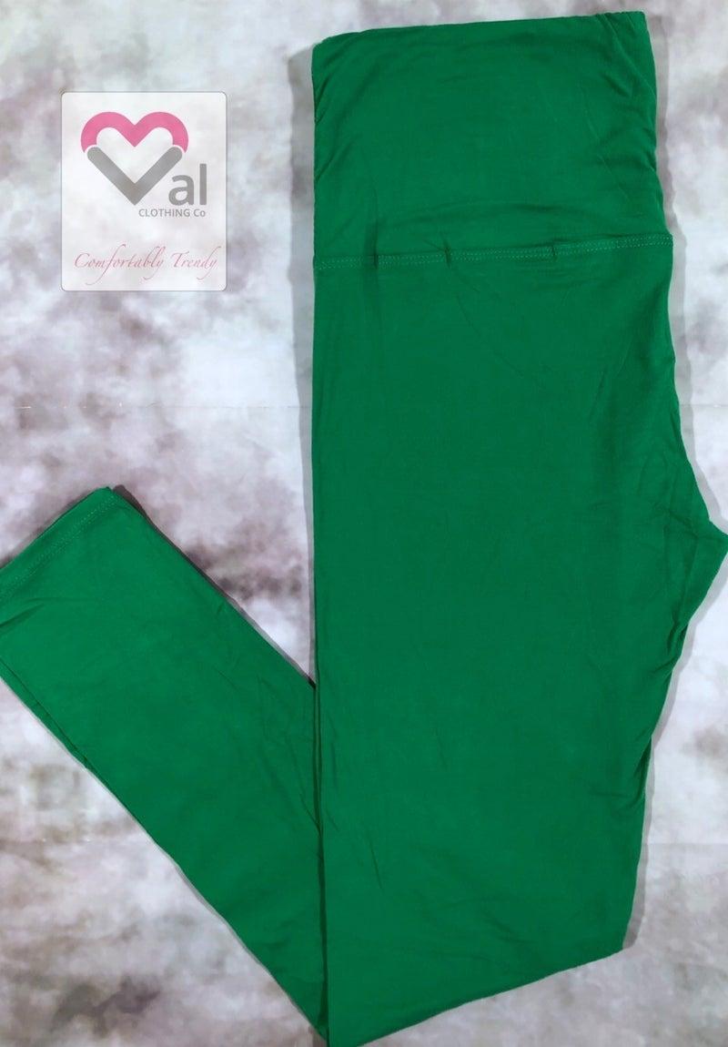 Solid Kelly Green Leggings