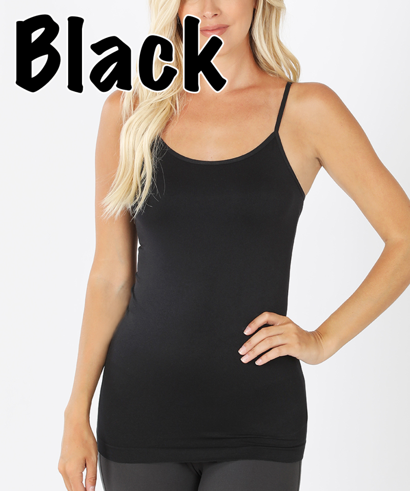 Seamless Solid Adjustable Strap Cami