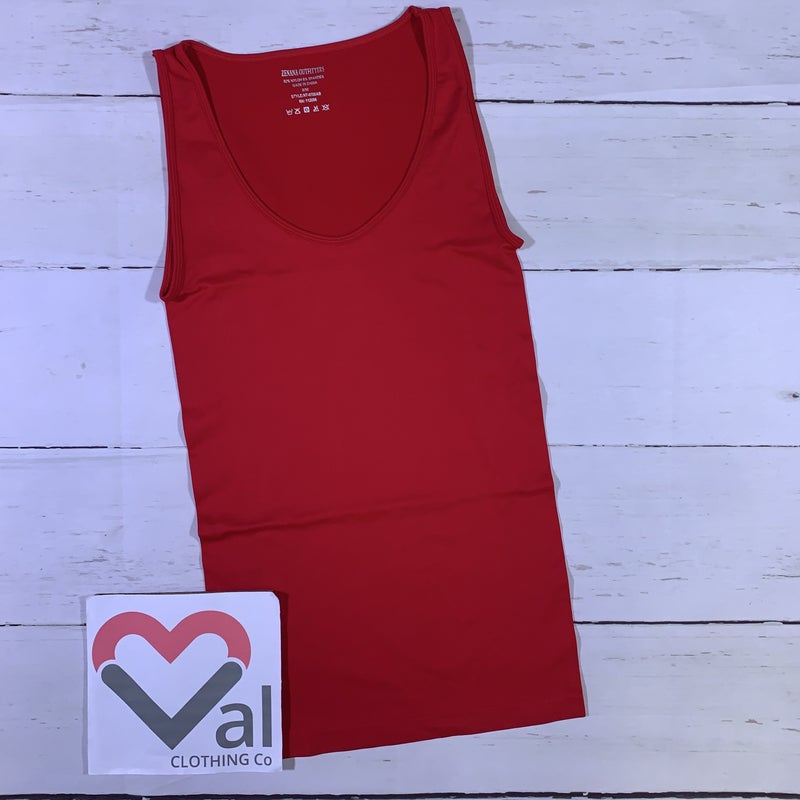 Sleeveless Solid Seamless Tank Top