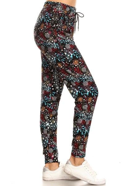 Leggings Material Multi Floral Printed Joggers
