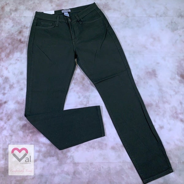 Judy Blue Olive Colored Boyfriend Jeans