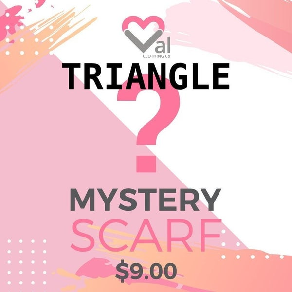 Mystery Knit Triangle Scarf