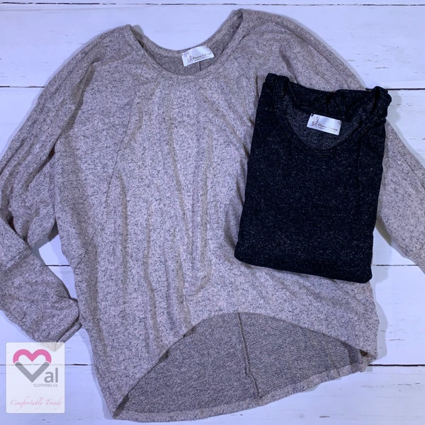 Long Sleeve Solid Lounge Top Sweater