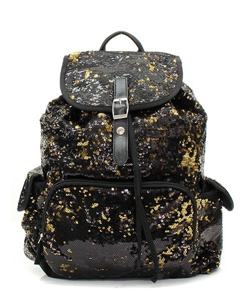 Multicolored Sequin Backpack