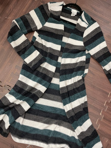 Long Sleeve Striped Cardigan