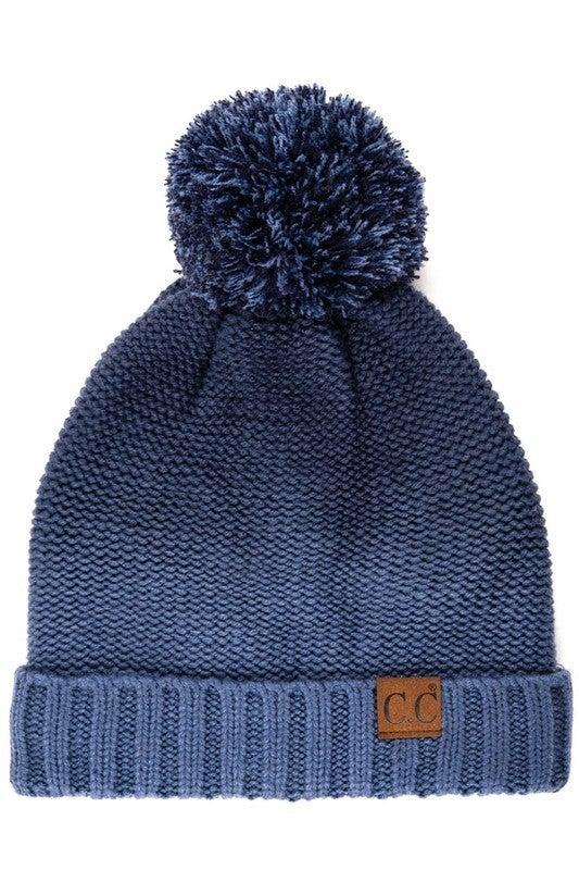 CC Ombre PomPom Beanie Hat