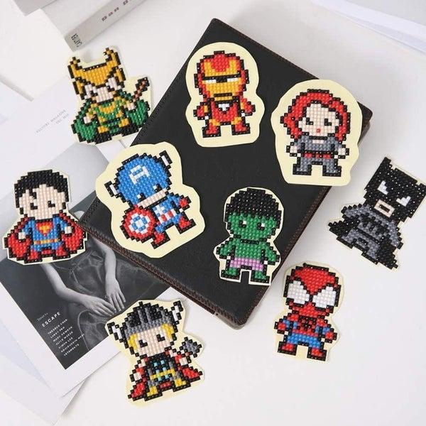 Hero Diamond Painting Sticker Kit for Kids