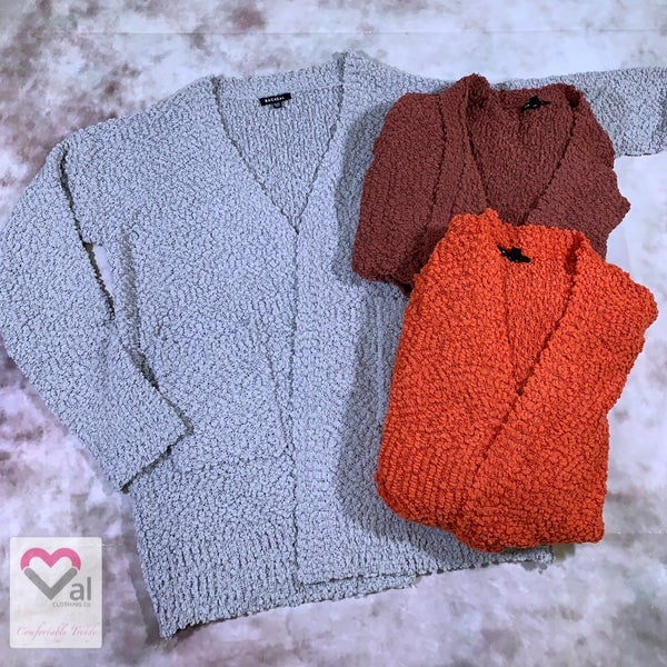 Long Sleeve Solid Open Knit Cardigan