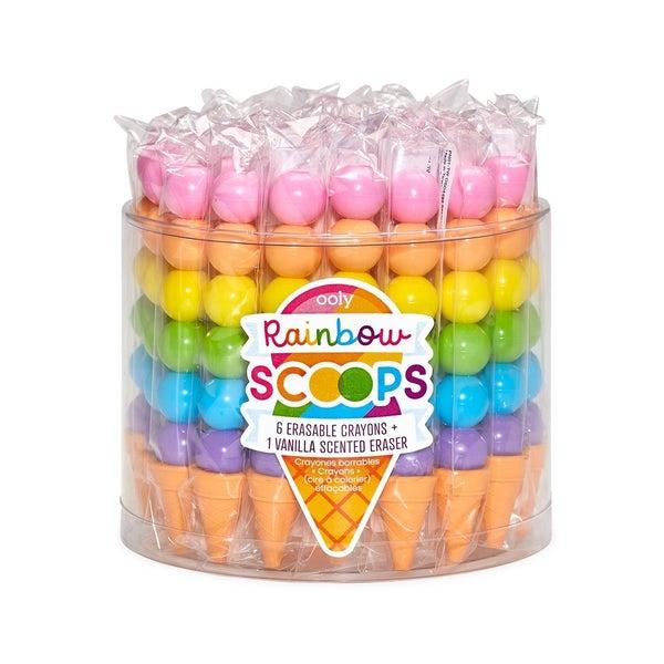 Rainbow Scoops Vanilla Scented Stacking Erasable Crayons