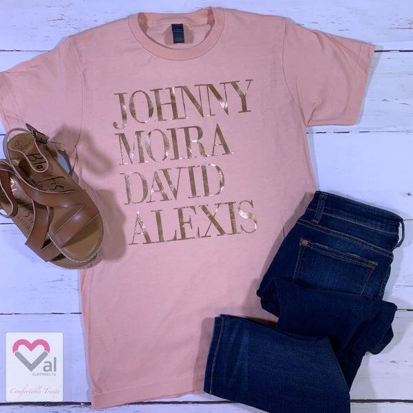 Short Sleeve Johnny Moira David Alexis Graphic Tee