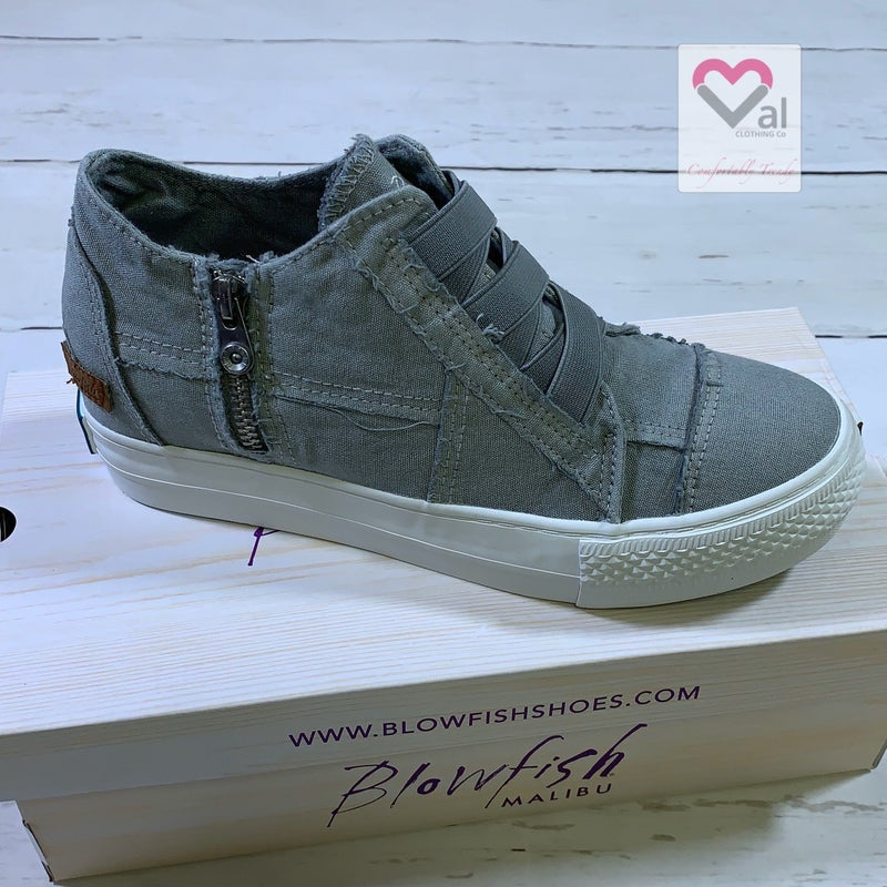 Blowfish Mid-Top Canvas Sneaker in Light Grey