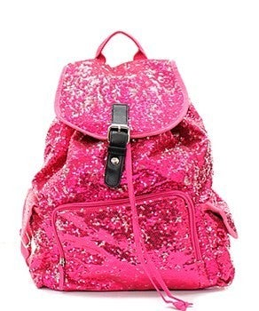 Large Solid Sequin Backpack