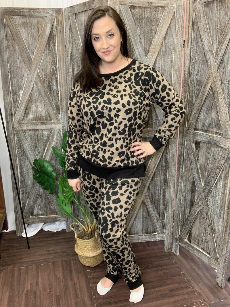 Full Length Leopard Joggers