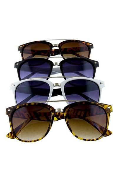 Retro Aviator Horned Fashion Sunglasses