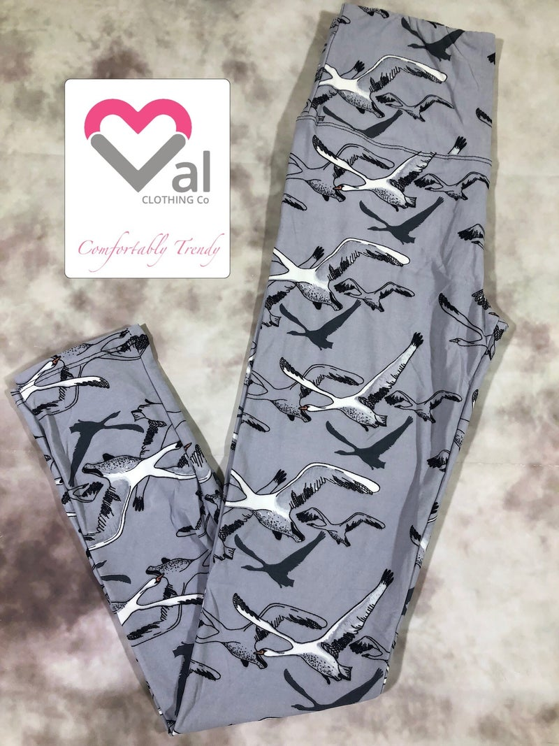 Flying Swan Leggings