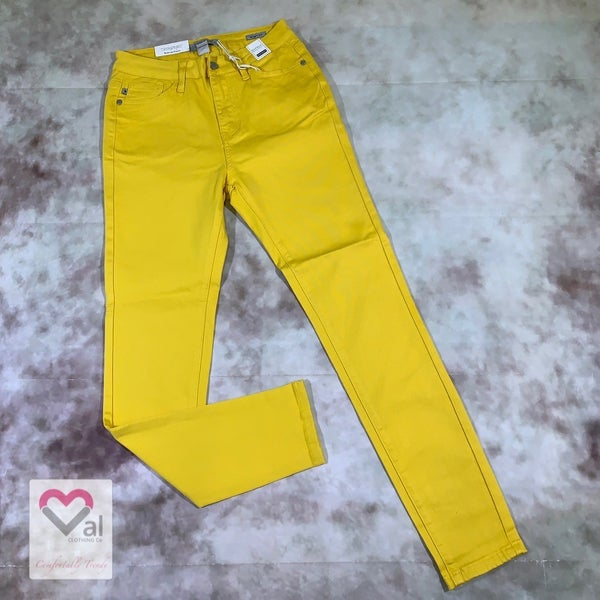 Judy Blue High Waist Solid Gold Skinny Jeans