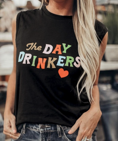 Day Drinkers Graphic Tee Tank Top