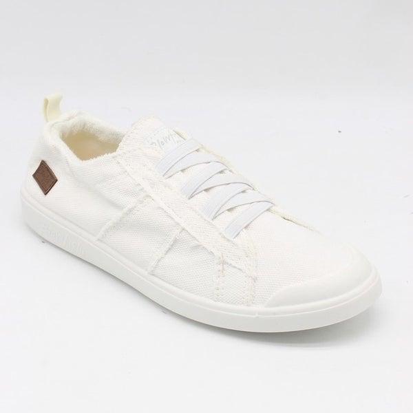 Blowfish Low Top White Smoke Elastic Vex Sneakers