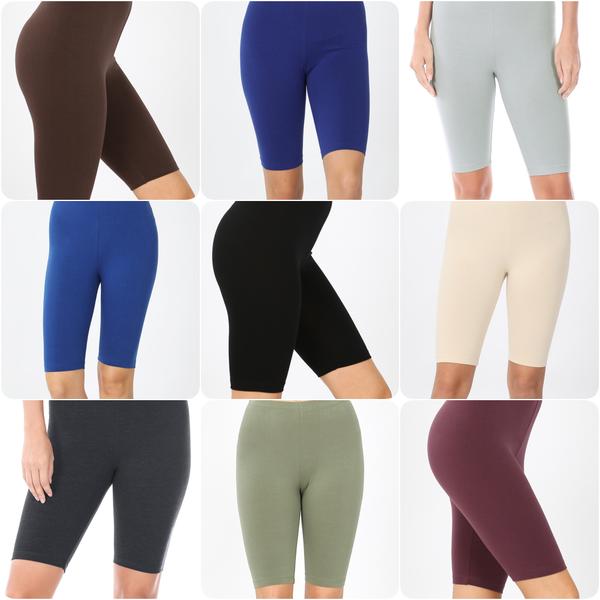Cotton Bermuda Shorts with Elastic Waistband