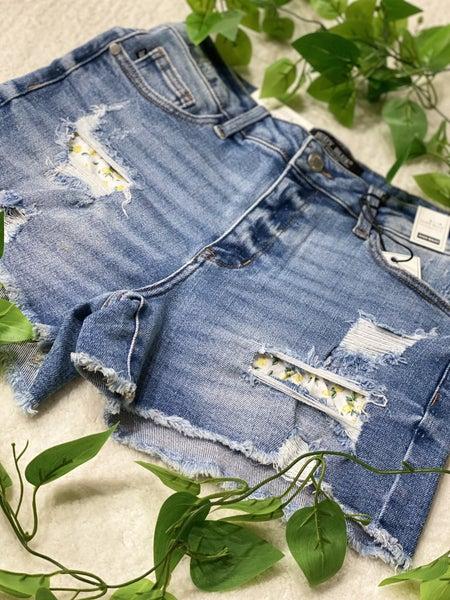 Judy Blue Lemon Patch Jean Shorts