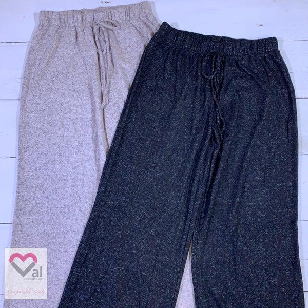 Wide Leg Solid Lounge Pants